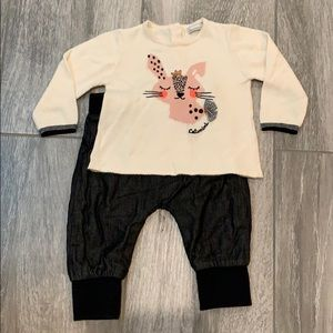 2 piece baby girl Catimini outfit
